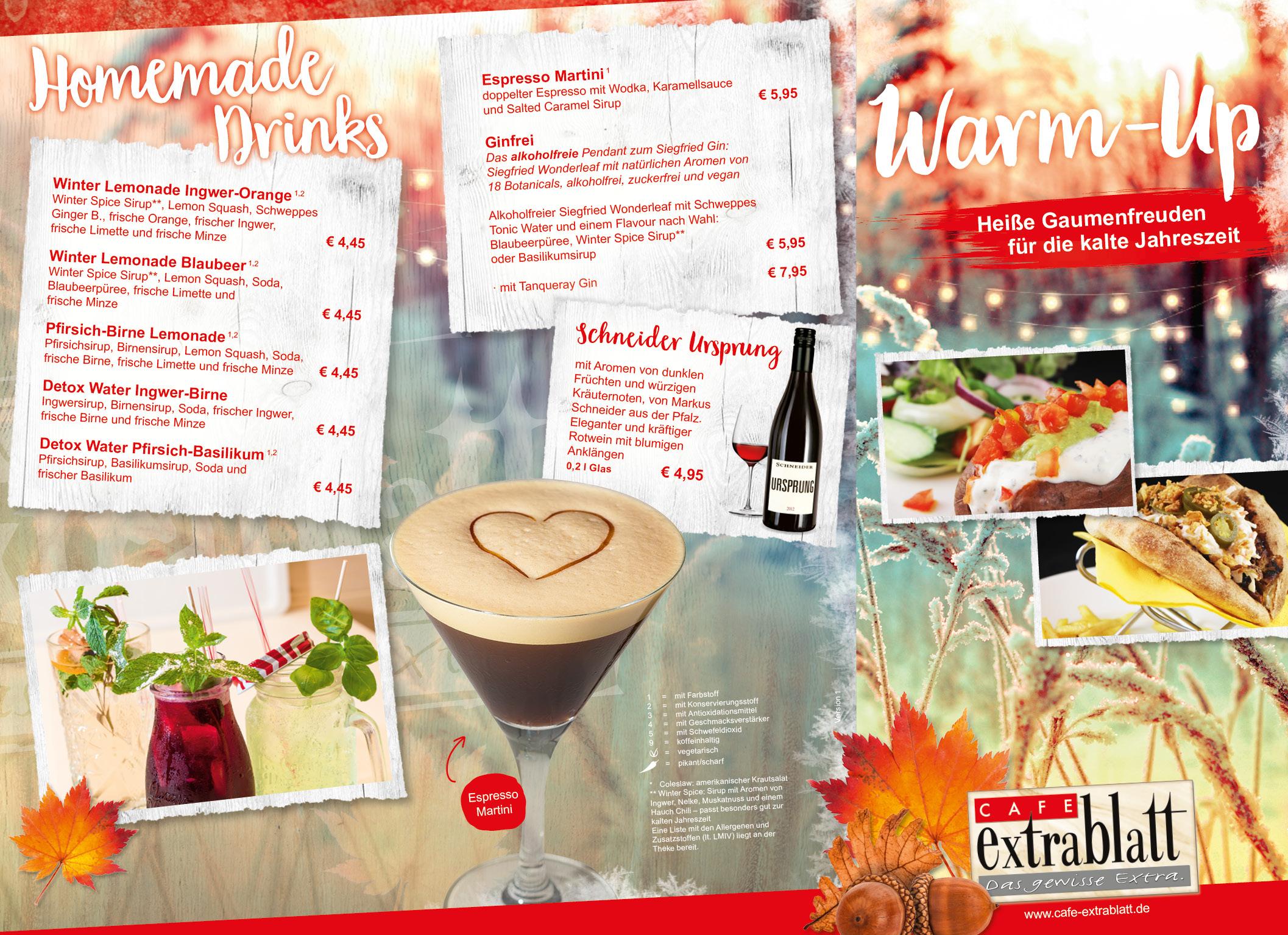 Warm Up Unsere Herbst Winter Karte Cafe Extrablatt