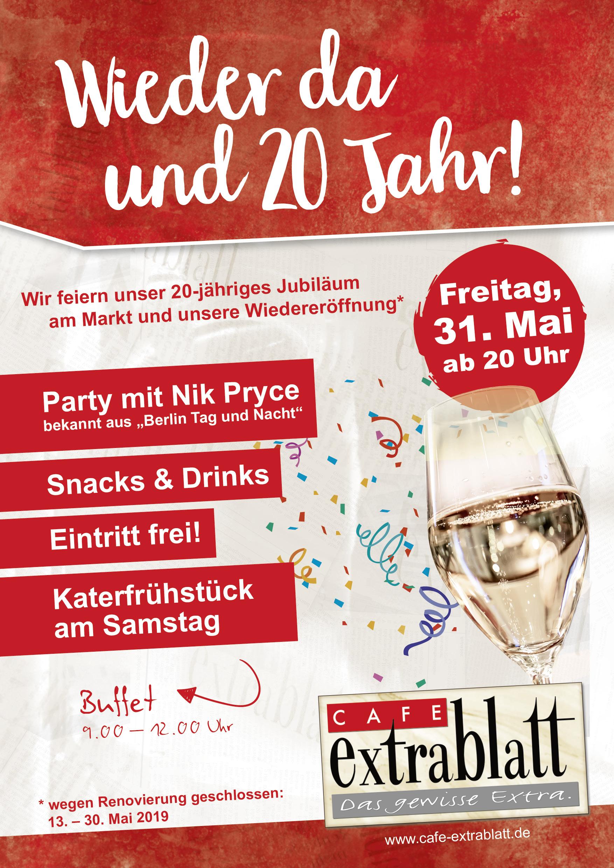 Wieder da und 20 Jahr-Party Lingen am Markt 31.05