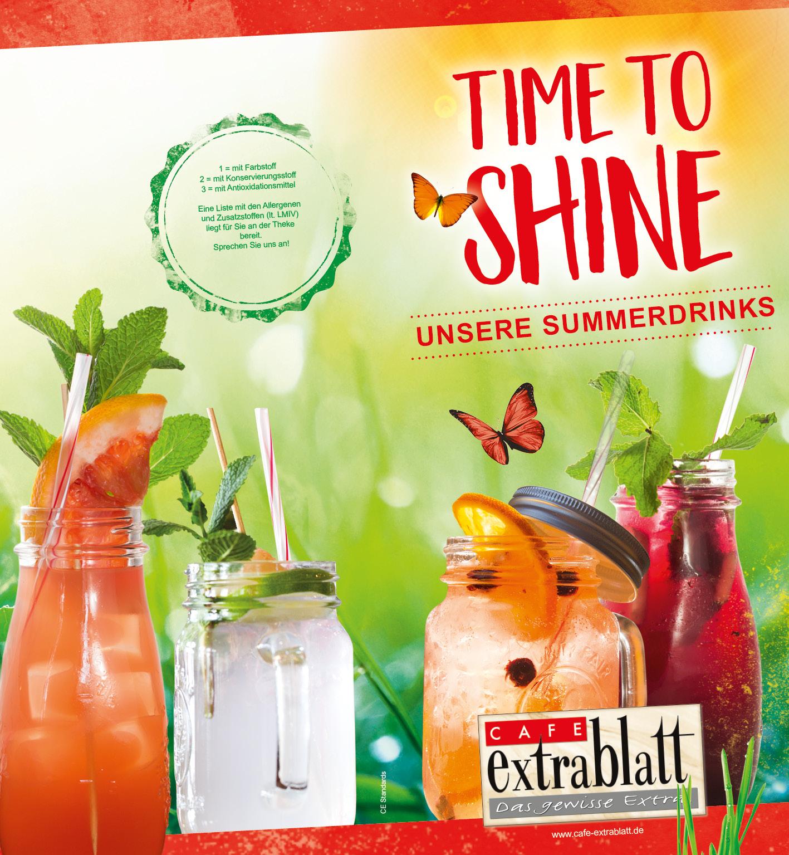 Unsere Sommergetränke - Cafe Extrablatt